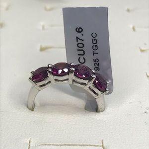 NWT Rajasthan Garnet Sterling Silver Ring, Size 6